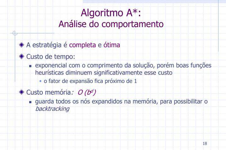 Algoritmo A*: