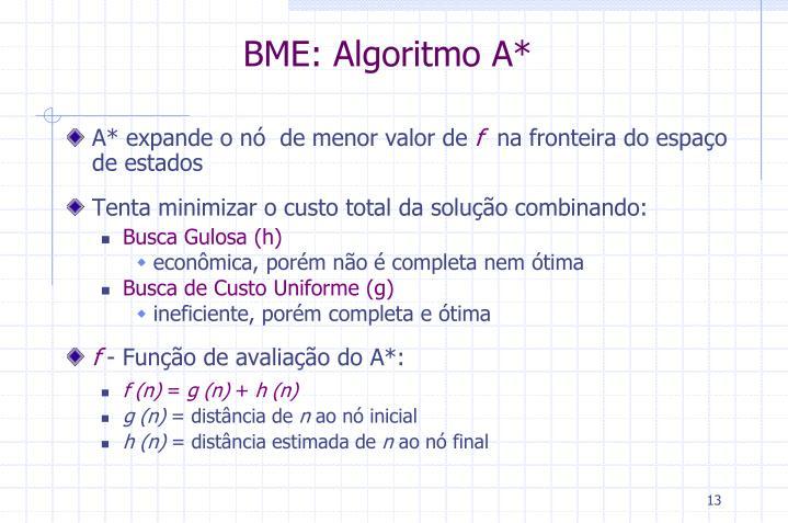 BME: Algoritmo A*