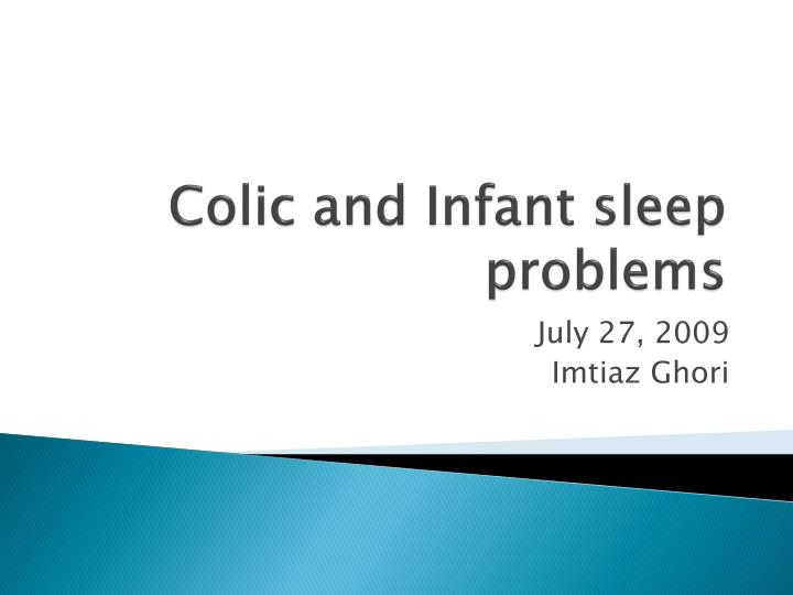 colic and infant sleep problems n.