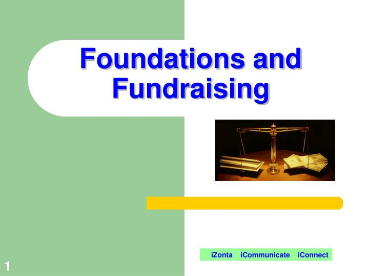foundations and fundraising n.