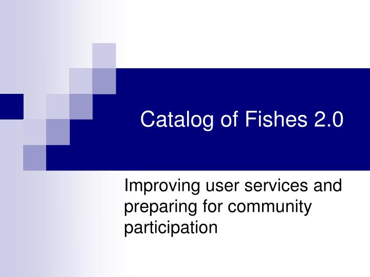 catalog of fishes 2 0 n.