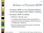 balance of payment bop