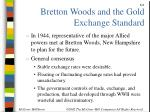 bretton woods and the gold exchange standard