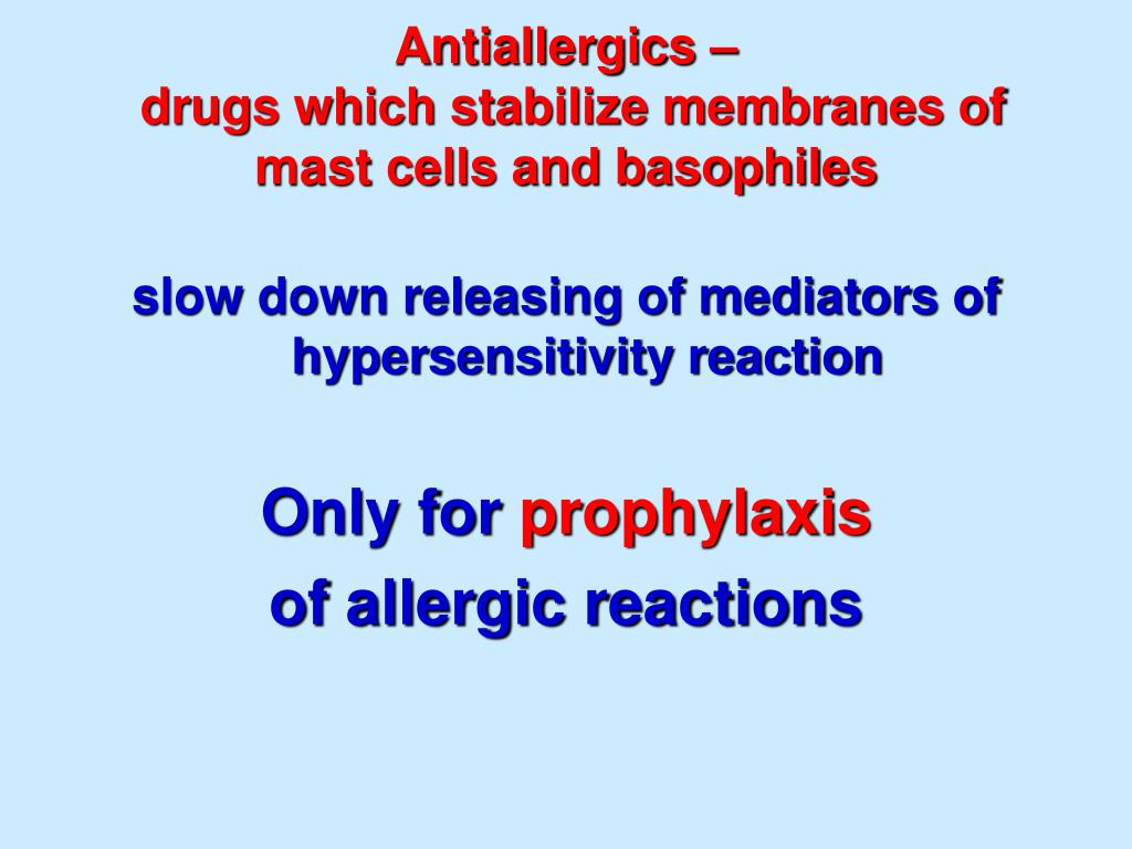 PPT - Antiallergic drugs PowerPoint Presentation - ID:6096184