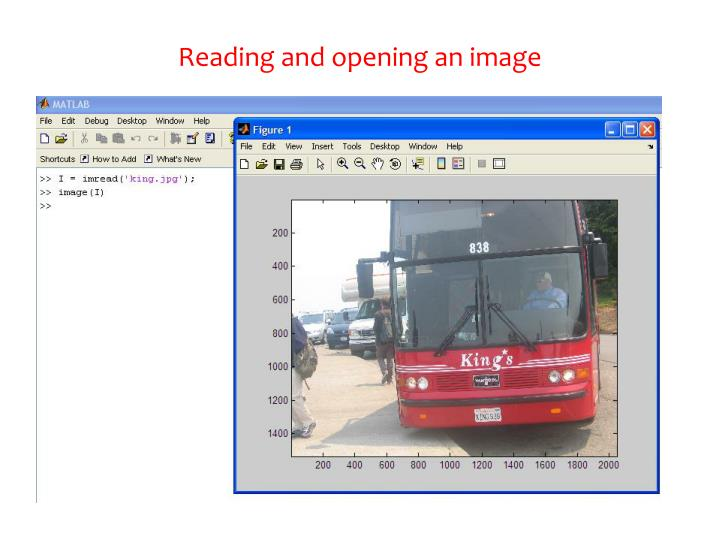 Reading and opening an image