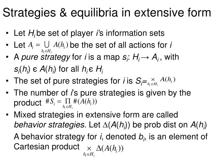 Strategies & equilibria in extensive form
