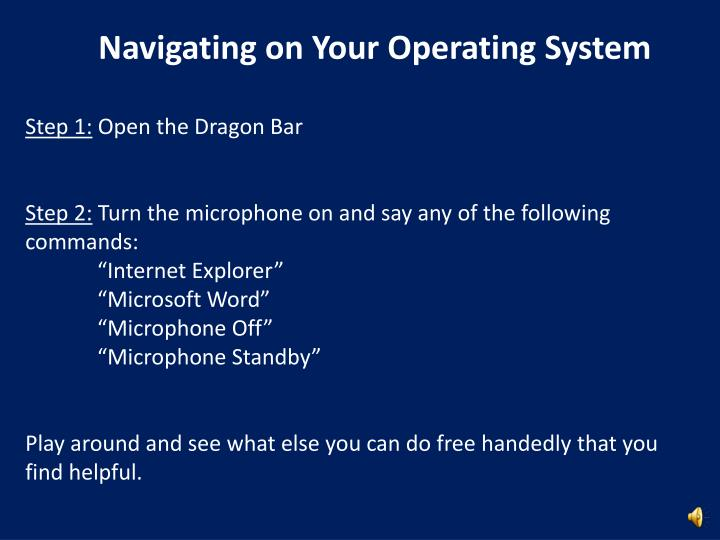 Navigating on Your Operating System