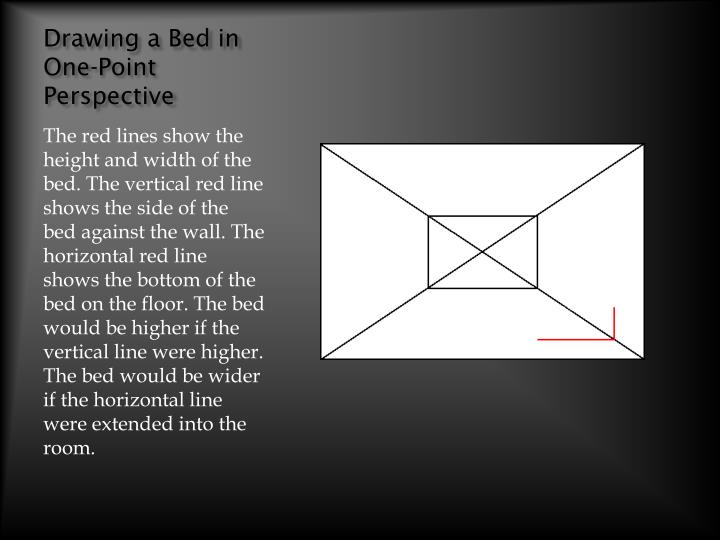drawing a bed in one point perspective n.