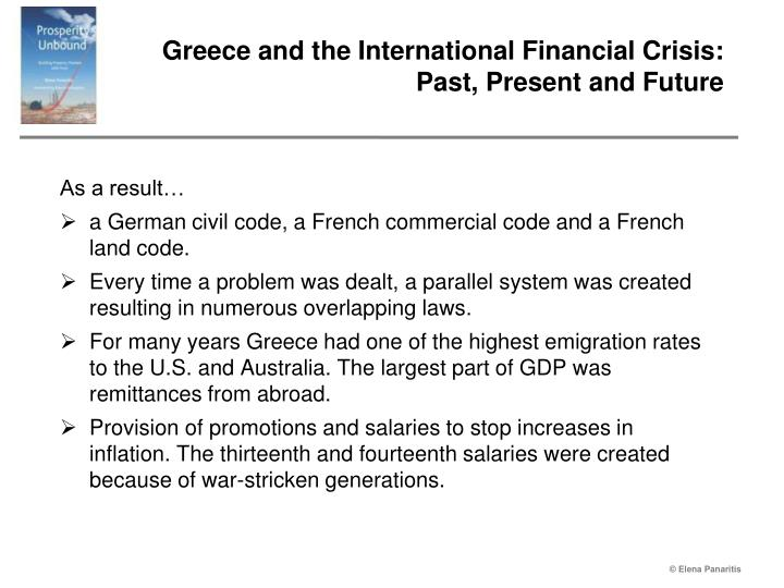 Greece and the international financial crisis past present and future2