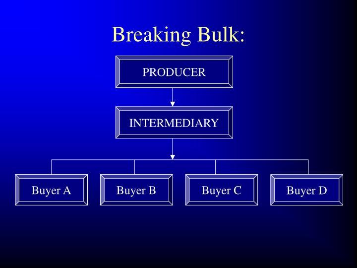Breaking Bulk: