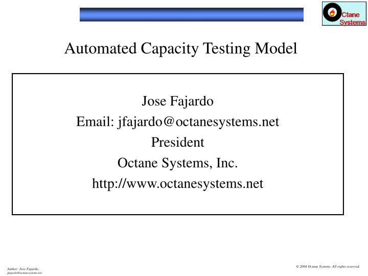 automated capacity testing model n.