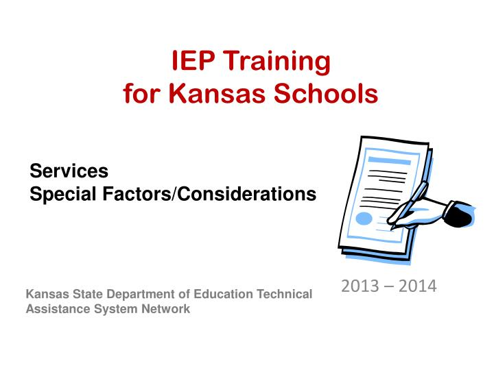 iep training for kansas schools n.
