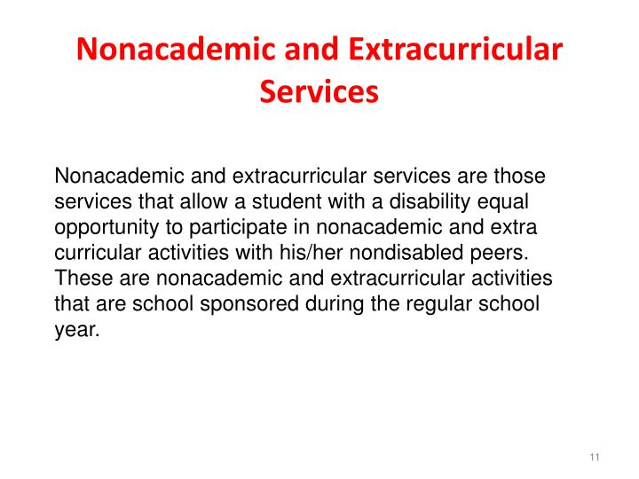Nonacademic and Extracurricular Services
