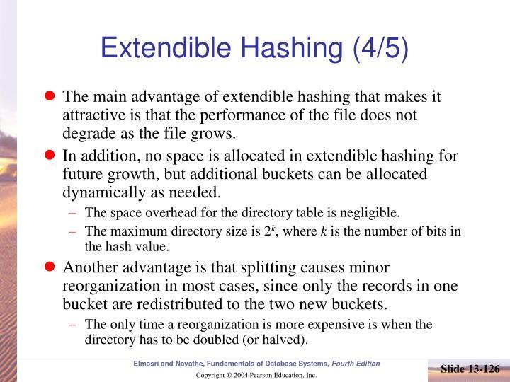 Extendible Hashing (4/5)