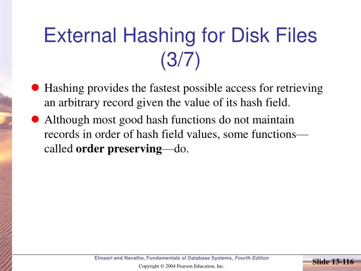 External Hashing for Disk Files (3/7)