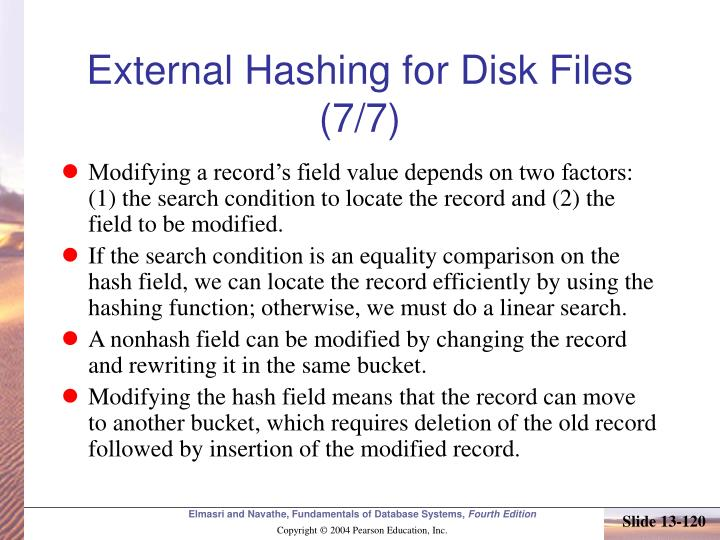 External Hashing for Disk Files (7/7)
