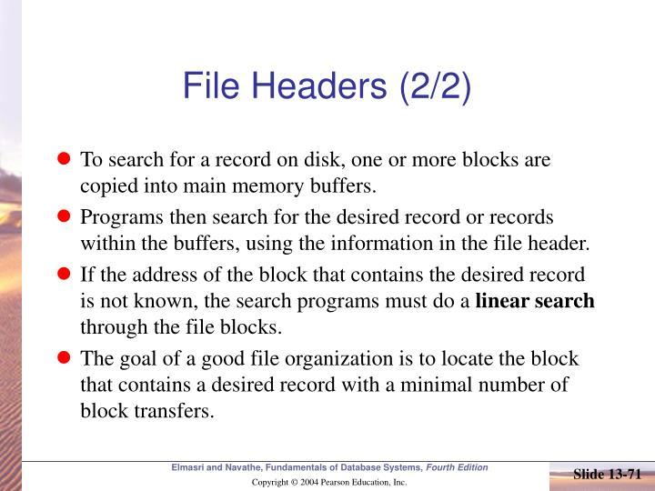File Headers (2/2)