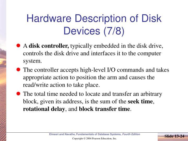 Hardware Description of Disk Devices (7/8)