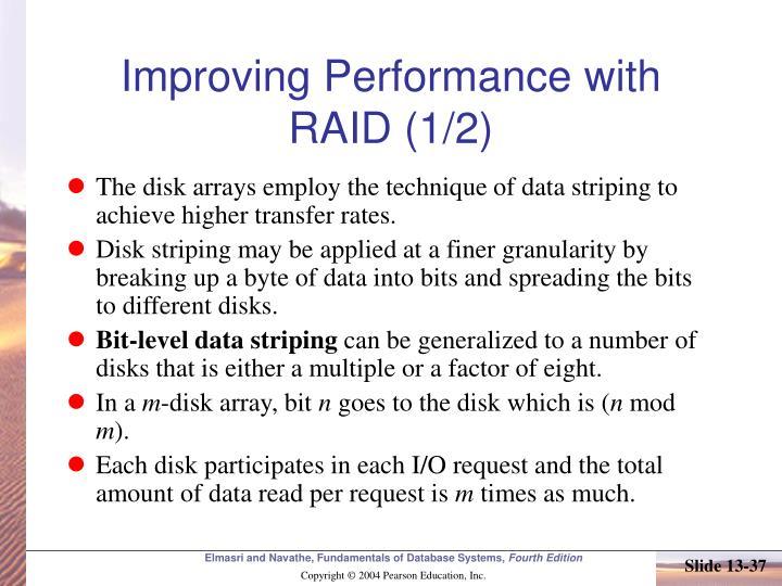 Improving Performance with RAID (1/2)