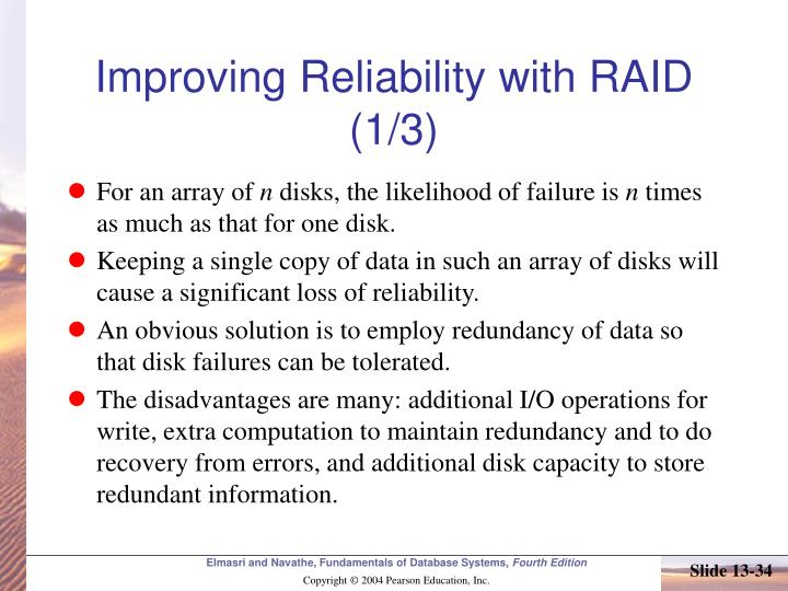 Improving Reliability with RAID (1/3)