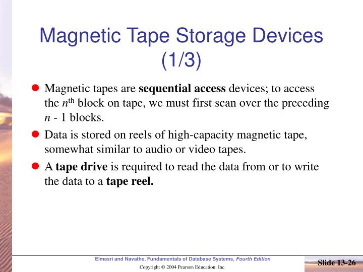 Magnetic Tape Storage Devices (1/3)