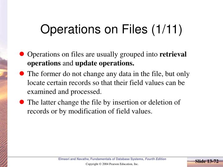 Operations on Files (1/11)