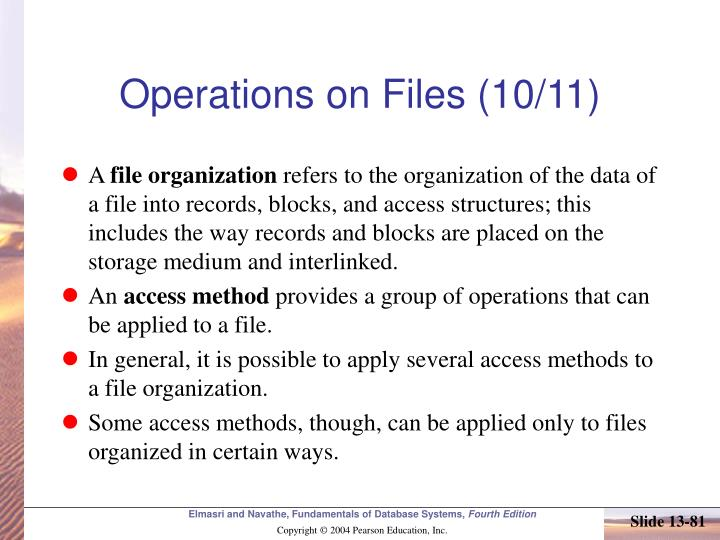 Operations on Files (10/11)