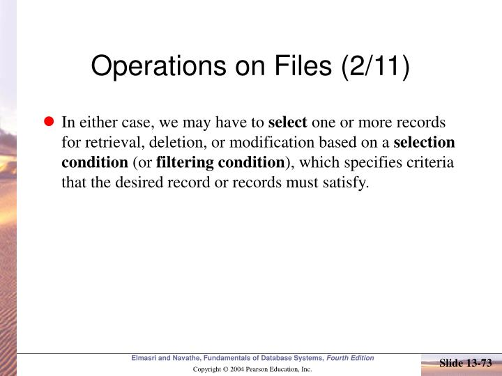 Operations on Files (2/11)