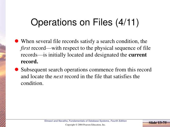 Operations on Files (4/11)