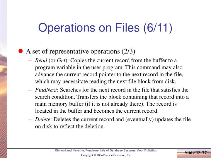 Operations on Files (6/11)