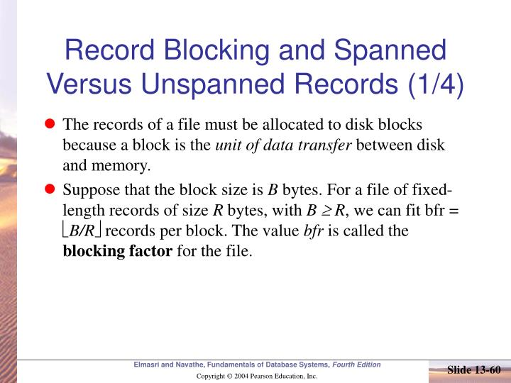 Record Blocking and Spanned Versus Unspanned Records (1/4)