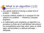 what is an algorithm 1 2