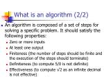 what is an algorithm 2 2
