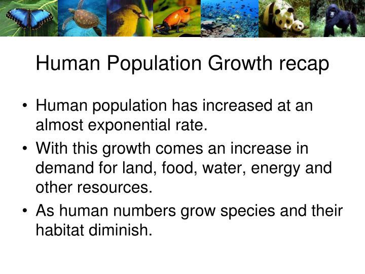 Human Population Growth recap