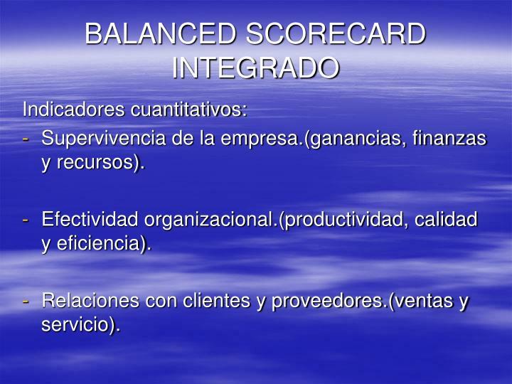 BALANCED SCORECARD INTEGRADO