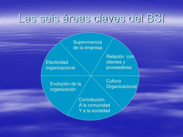 Las seis áreas claves del BSI