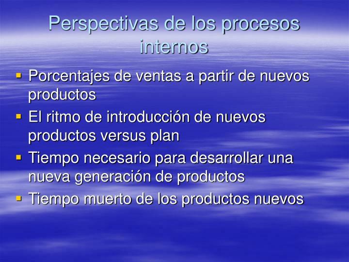 Perspectivas de los procesos internos