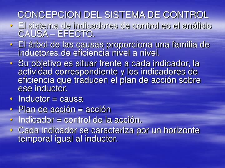CONCEPCION DEL SISTEMA DE CONTROL