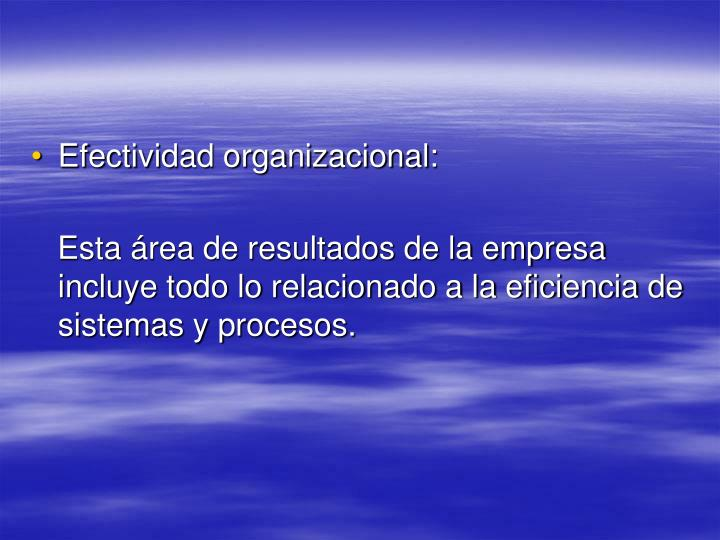 Efectividad organizacional: