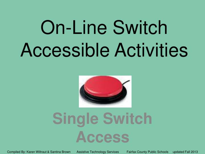 on line switch accessible activities n.