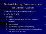 national saving investment and the current account
