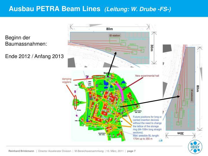Ausbau PETRA Beam Lines