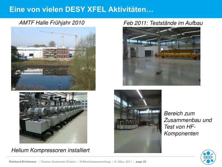 Eine von vielen DESY XFEL Aktivitäten…