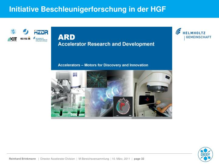 Initiative Beschleunigerforschung in der HGF