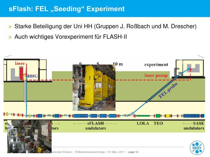 "sFlash: FEL ""Seeding"" Experiment"