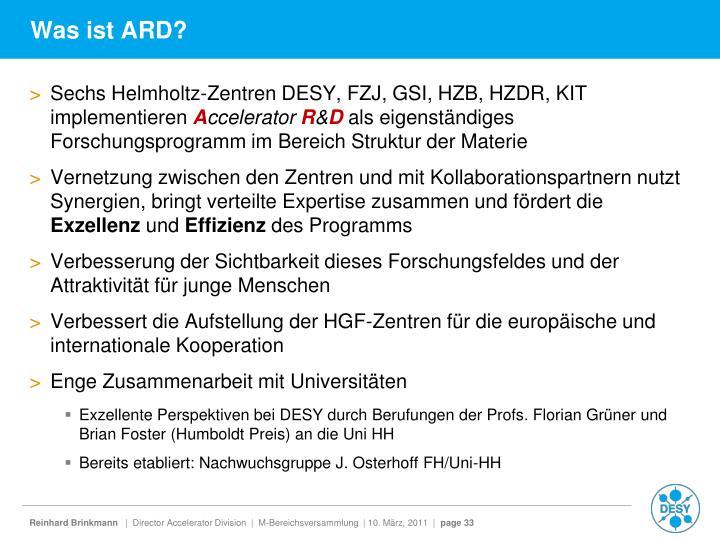 Was ist ARD?