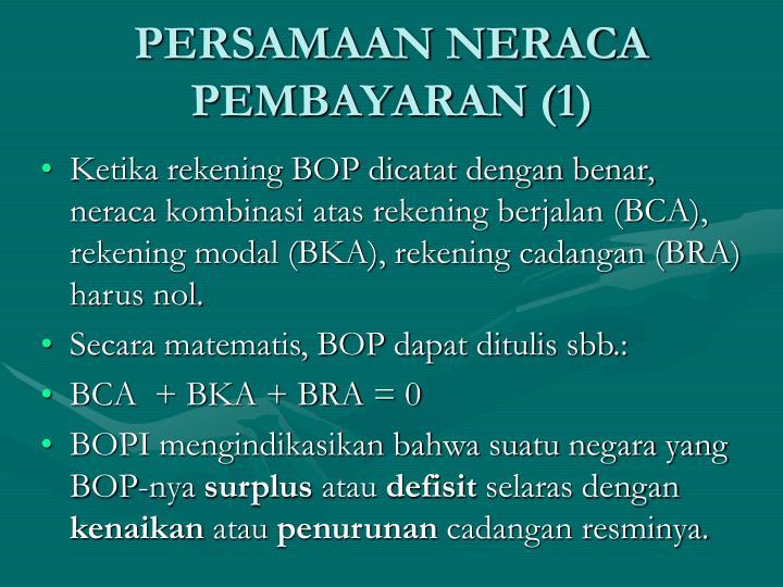PERSAMAAN NERACA PEMBAYARAN (1)