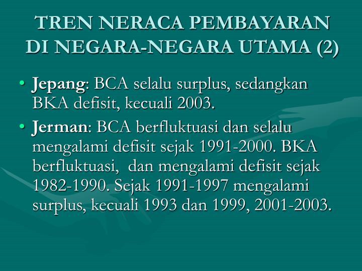 TREN NERACA PEMBAYARAN DI NEGARA-NEGARA UTAMA (2)
