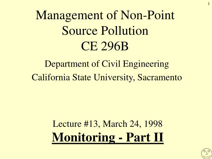 management of non point source pollution ce 296b n.