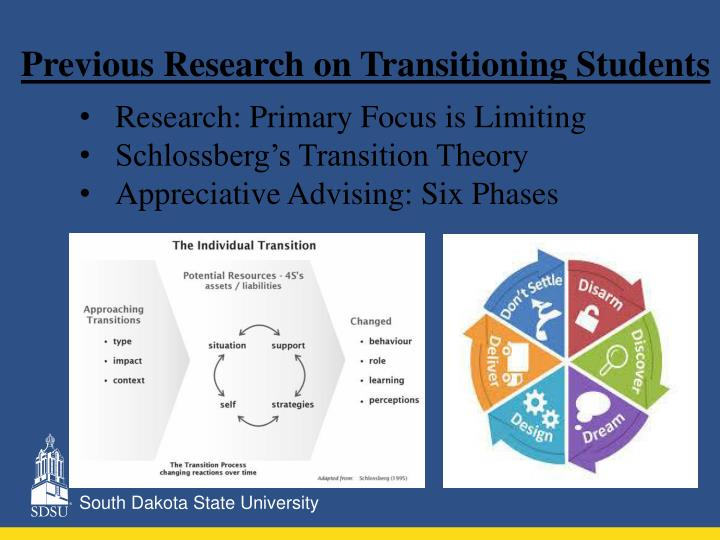 Previous Research on Transitioning Students